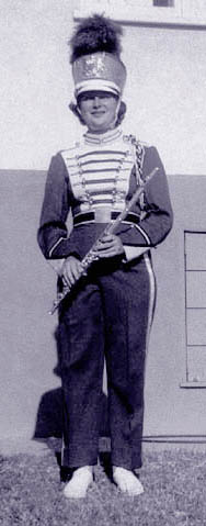 [photo of Judy in Band Uniform]